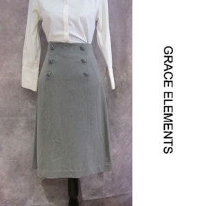 NEW Grace Elements Gray Pencil Skirt Size 6